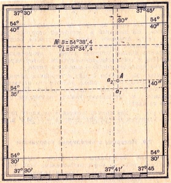Карты определить координаты точки